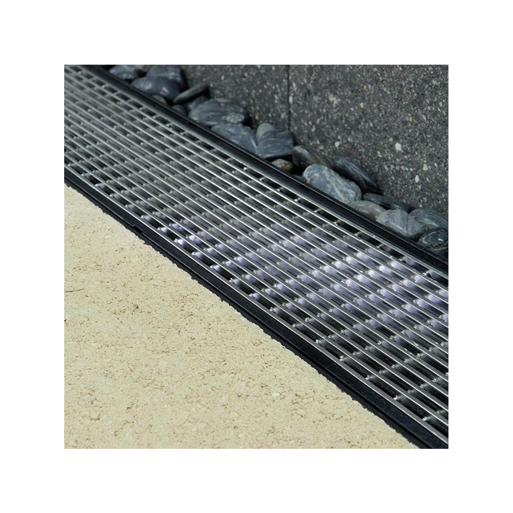 Rain Drain 10ft Architectural 316 Stainless Steel Grate