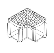 Rain Drain Portland Grey Corner Technical Drawing