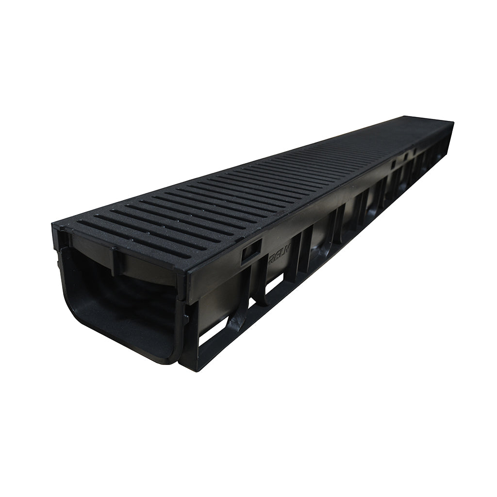 Rain Mate Channel with Black Heelguard Grate