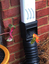 Mole Pipe Black Downspout Filter