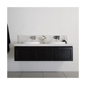 London 60inch Double Sink Vanity - Matte Black