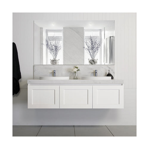 London 60inch Double Sink Vanity - White