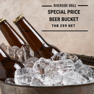 Riverside Grill - A Bucket of 3 Bottles of Local Beer