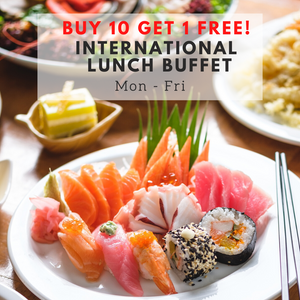 (Buy 10 Get 1 Free) International Lunch Buffet (Mon - Fri)