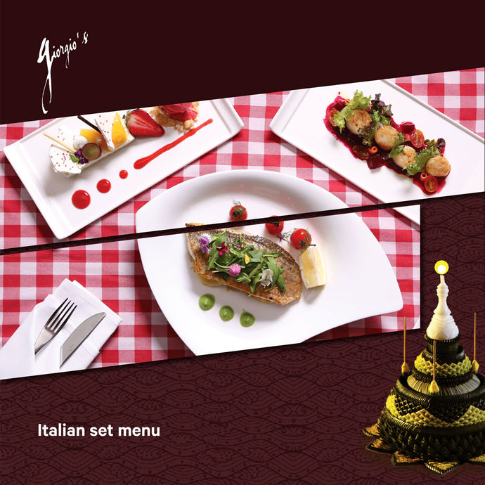 Italian Set Menu on 22 Nov.