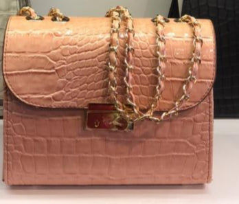 Premium Blush Leather Bag