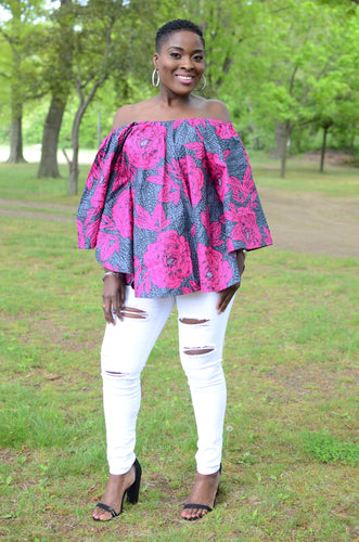 Ankara off-the-shoulder