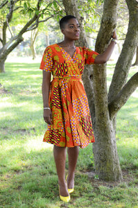 Ankara Timeless Wrap Dress