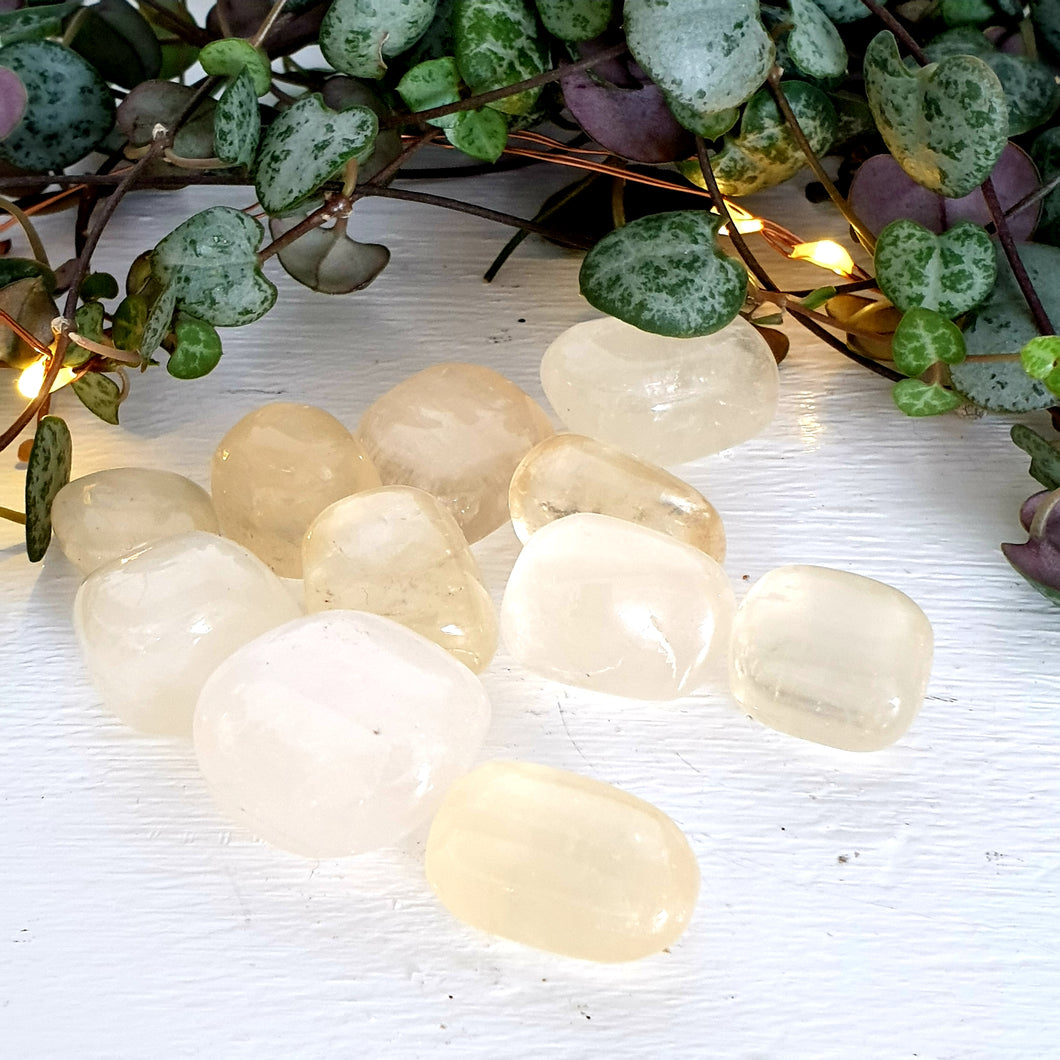 Calcite Yellow -(Tumbled)