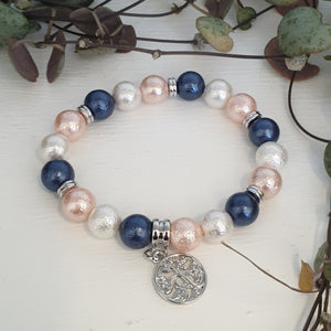 Crystal Carving Bracelets - Shell Pearl