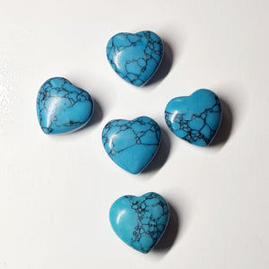 Howlite Blue 20mm Heart