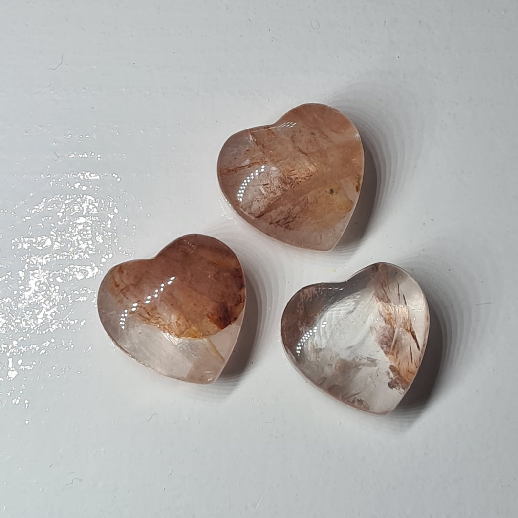 Quartz Rutilated -  20mm Heart