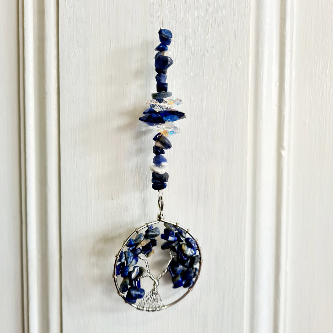 Sun Catchers -Tree of Life Lapis Lazuli