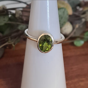 Peridot Oval Ring