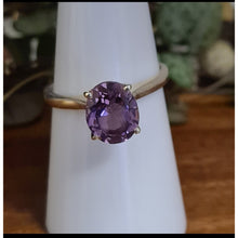 Amethyst Oval Diamond Cut Ring