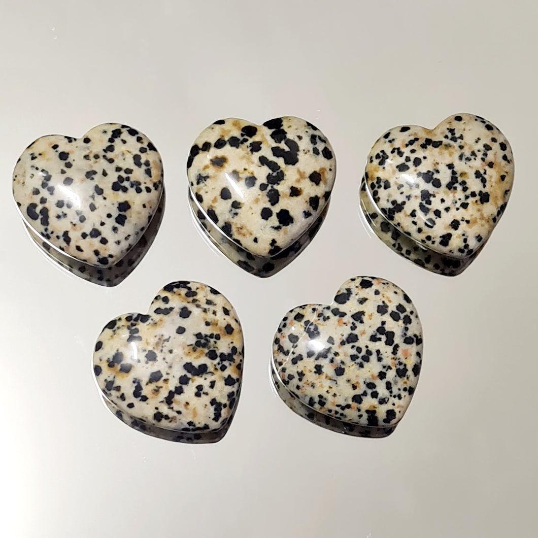 Jasper Dalmation - Hearts 30 mm