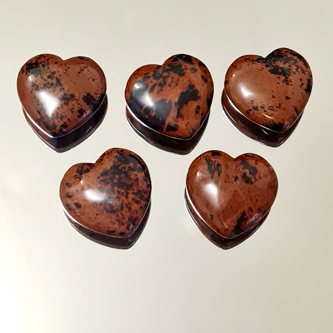 Obsidian Mahogany  - Hearts 30 mm