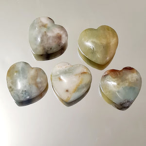 Amazonite - Hearts 30 mm
