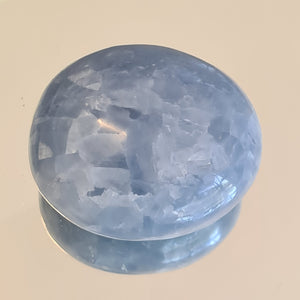 Calcite Blue - Palm Stone