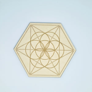 Crystal Grid - Seed of life with the Merkaba.