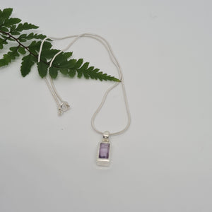 Amethyst Faceted - Pendant