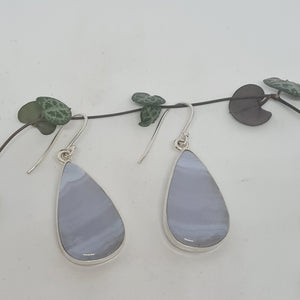 Agate Blue Lace - Earrings
