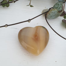 Agate Orange - 30mm Hearts