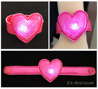 Flashing Valentine Triple Heart Bracelet