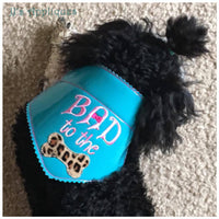 Bad to the Bone with Bow Doggie Bandana