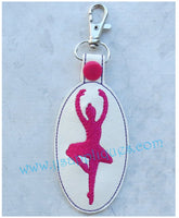 Snap On Ballerina 2 Key Fob