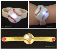 Flashing Baseball Bracelet