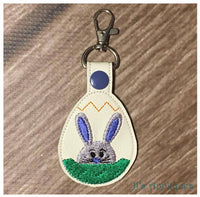 Snap On Bunny Boy in Egg Key Fob