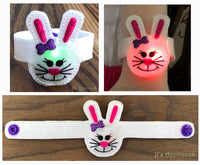 Flashing Bunny Girl Face Bracelet