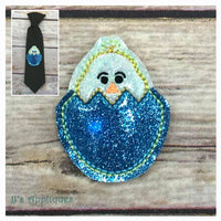 Flashing Chick in Egg 2 Applique Feltie