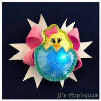 Flashing Chick in Egg Applique Feltie