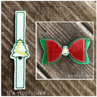 Christmas Tree Bow Center Tie