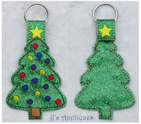 Snap On Christmas Tree Key Fob
