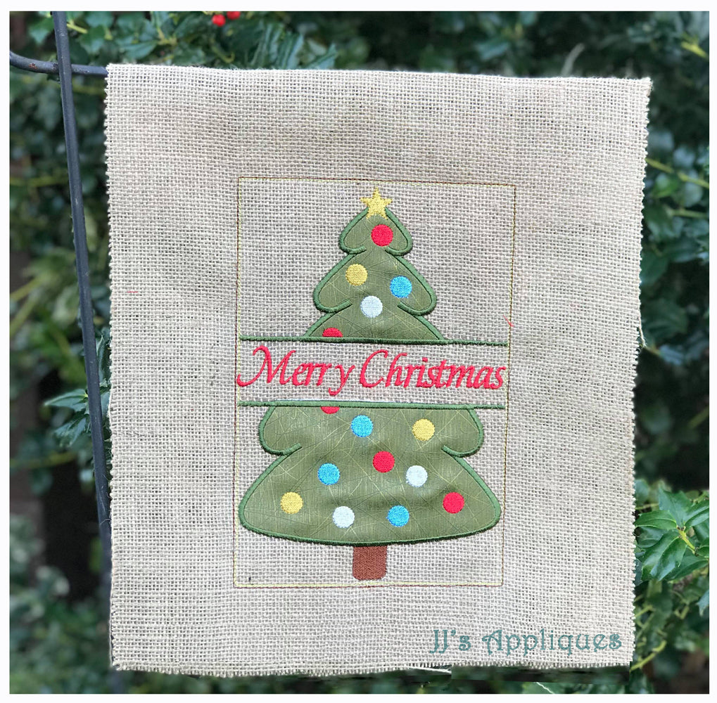 Christmas Tree Split Garden Flag