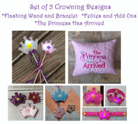 Princess Set of 5 Crowning Designs