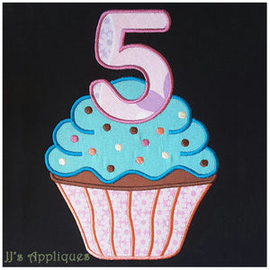 Cupcake with 5
