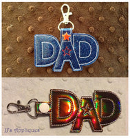 Snap On Dad Star Key Fob Set