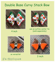 Double Base Stack Curvy Loop Bows