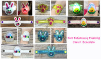 Easter Set of 5 Flashing Bracelets