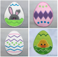 Easter Eggs Set of 4 Appliques