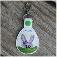 Snap On Bunny Girl in Egg Key Fob