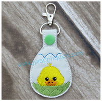 Snap On Easter Chick in Egg Fob