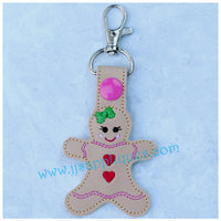Snap On Gingerbread Girl Key Fob