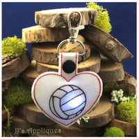 Flashing Snap On Heart Shape Blank Key Fob