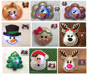 Holiday Set of 9 Flashing Felties
