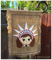 Liberty Girl Garden Flag